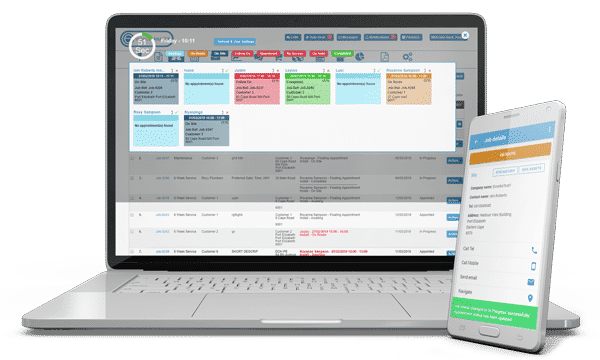 Live Panel Time Planner for Scheduling Staff and Tasks