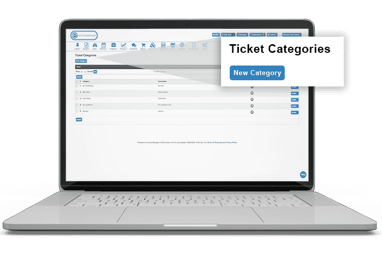 Help Desk Software - Ticket categories