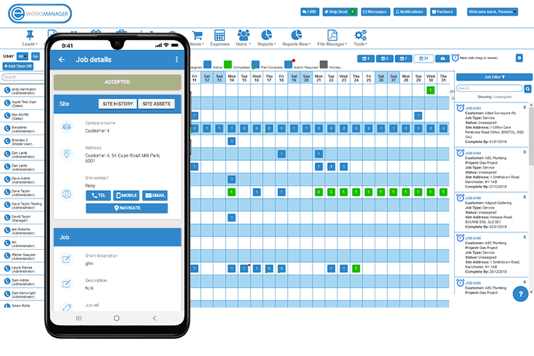 Job Scheduling Using Our Mobile App
