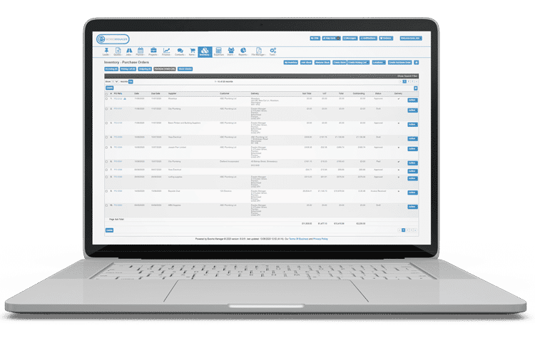 Inventory Management System - Purchase Order Capturing