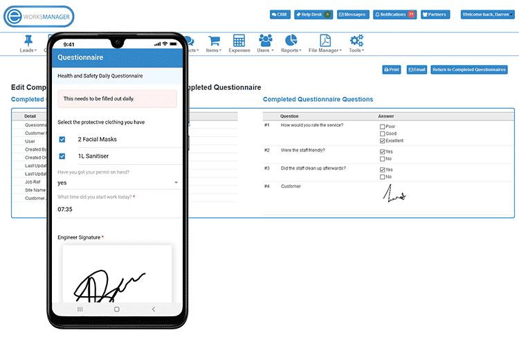 Service Business Software - Digital Questionnaires