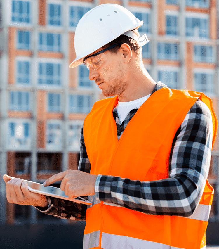 Technician using Job Scheduling Software