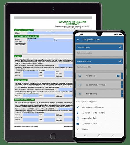 Mobile Inventory Management - Job Management Software System
