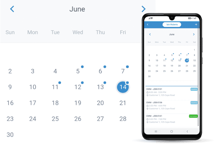 Mobile App Calendar - Sync with the Admin System