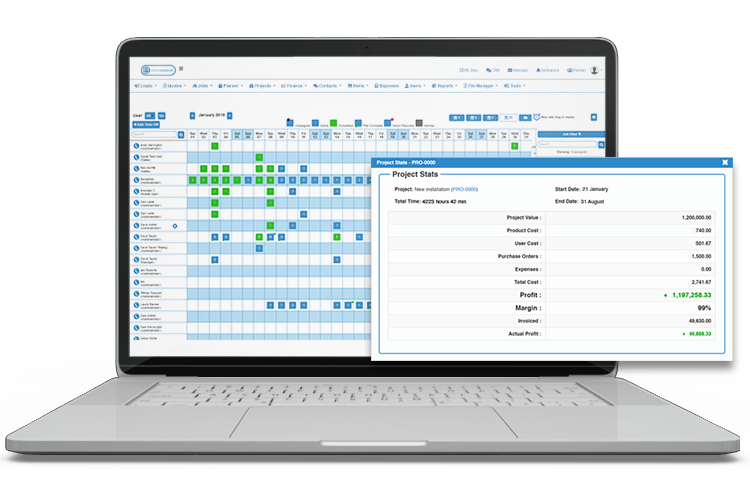 Project Scheduling System - Expense Management