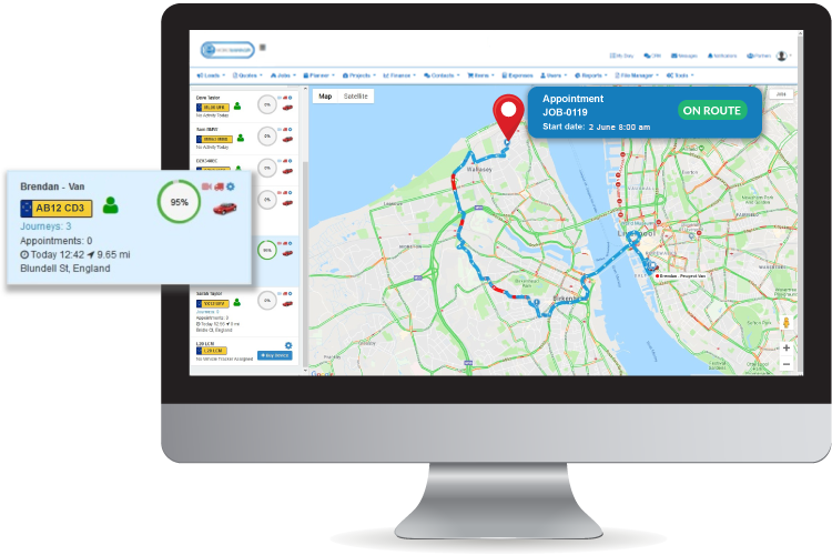 Live Mobile Tracking - Track your technicians in the field